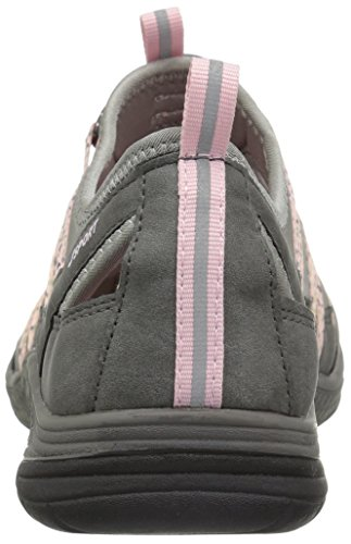 JSport by Jambu Women's Hibiscus Walking Shoe Grey/Pastel Pink mtx5RVuQEH