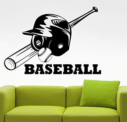 BYRON HOYLE Baseball Wall Decal Vinyl Sticker Home Interior Decorations MLB Sports Vinyl Art Kids Boys Living Room Bedroom Decor 38bolb