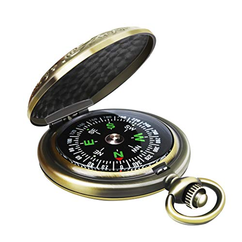 - Leabertee Multifunctional Zinc Alloy Classic Compass for Hiking, Camping, Motoring, Boating, Backpacking, Gift and Collection