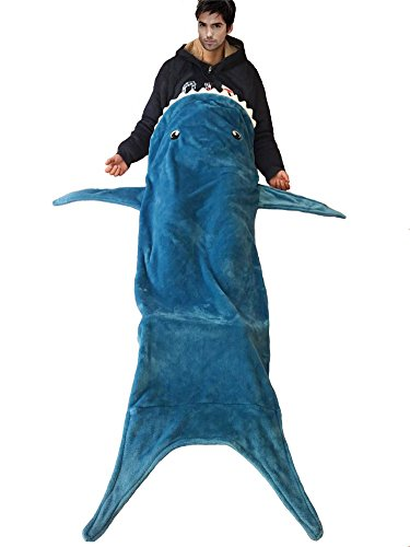 "Shark Tail Blanket - 71"" In Length, Plus Size&Super Soft Premium Quality Guaranteed Shark Throw Blanket As Seen on - Road Summer Trip Packing List"