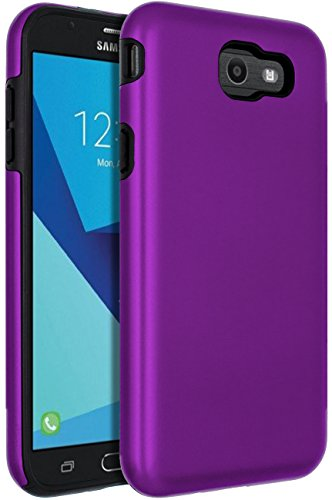 SENON Slim-fit Shockproof Anti-Scratch Anti-Fingerprint Protective Case Cover for Samsung Galaxy J7 V 2017,Galaxy J7 2017,Galaxy J7 Sky Pro,Galaxy J7 Perx,Galaxy J7 2017(AT&T),Purple