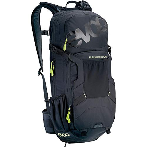 EVOC Sports FR ENDURO BLACKLINE 16L Outdoor Protektor Rucksack Backpack für Bike-Touren & Trails (TÜV/GS Zertifiziert, LITESHIELD BACK PROTECTOR & AIR SYSTEM Technologie), Schwarz