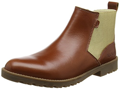 Kickers Lachly, Botines Mujer Marrón