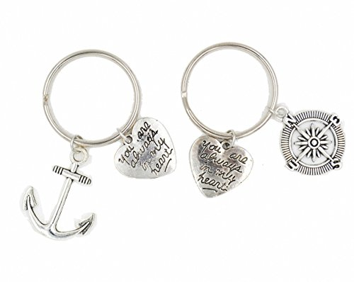 Jwoolw Jewelry Set of 3 Pinky Promise Pinky Swear Best Friend Sisters Necklaces or Key Chain BFF You Are Always in My Heart For Teens (Keychain 1) (Best Friend Items)
