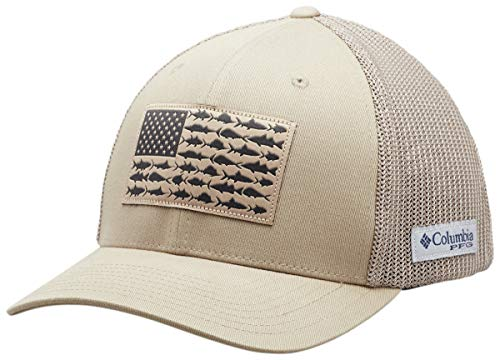 Columbia PFG Mesh Fish Flag Ball Cap, Tusk, Large/X-Large (Fish Men Hats)