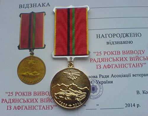 Veteran of Afghan War 25 years of withdrawal of Soviet troops from Afghanistan USSR Russian Ukrainian Military Original medal
