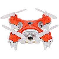 Chinatera Mini RC Quadcopter Cheerson CX-10C 2.4G 6-Axis Gyro Mini Drone with 0.3MP camera Orange