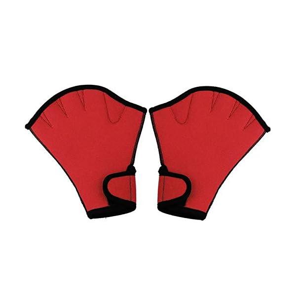 Queenback 1 Coppia Nuoto Guanti Acquatica Fitness Resistenza All'Acqua Aqua Fit Racchettone Allenamento Guanti senza… 5 spesavip