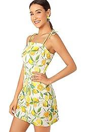 Floerns Women's Halter Neck Floral Print A-Line Mini Dress