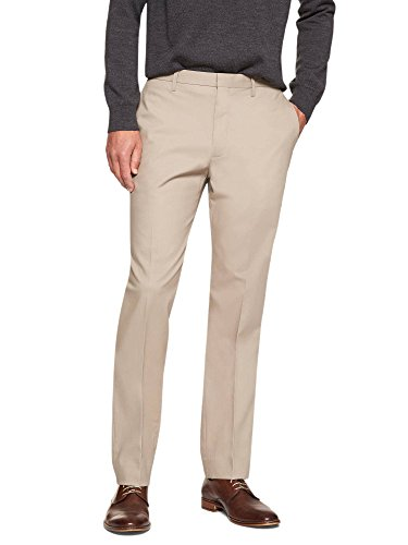 Banana Republic Men's Non Iron Slim Fit Dress Pants Khaki Beige 33W x 32L by Banana Republic