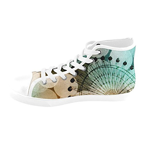 Artsadd Silhouette Blues High Top Canvas Shoes For Women(Model002) F3 i0ap5ztdH