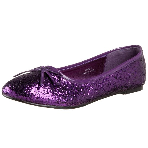Funtasma by Pleaser Women's STAR-16G Ballet Glitter Flat