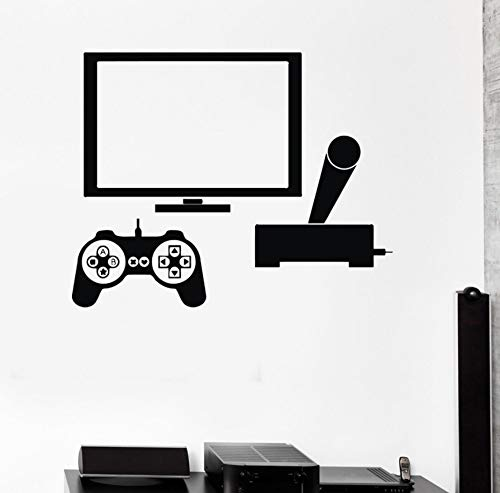 (Wall Sticker Video Game Gamer Pc Play Room Boy Teen DIY Vinyl Home Decoration Living Room Bedroom Art Murals 72Cm X 57Cm)