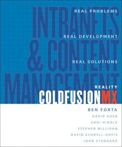 Reality ColdFusion: Intranets and Content Management by Pearson Education