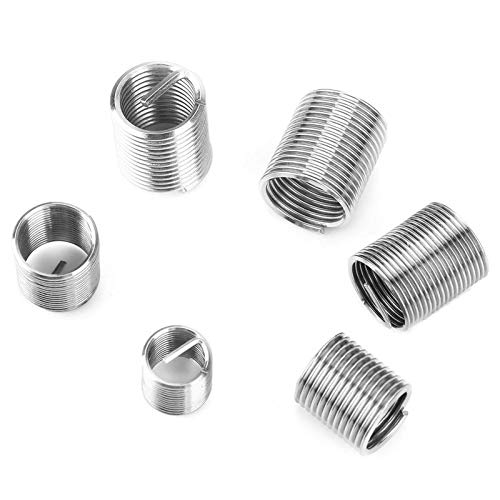 Ochoos 50Pcs//Set M8-M12 Fine Threaded Inserts Stainless Steel Coiled Wire Helical Screw Thread Insert Set Thread Repair kit New Arrival