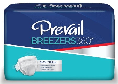 Prevail Breezers 360 Ultimate Absorbency Incontinence Briefs  Size 3  15 Count  Pack Of 4