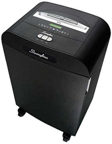 Swingline Paper Shredder, Jam Free, 22 Sheet Capacity, Strip-Cut, 10-20 Users, DS22-19 (1758595) by Swingline