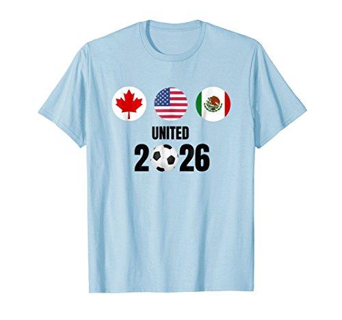 North America 2026 World UNITED Cup TShirt Canada USA Mexico