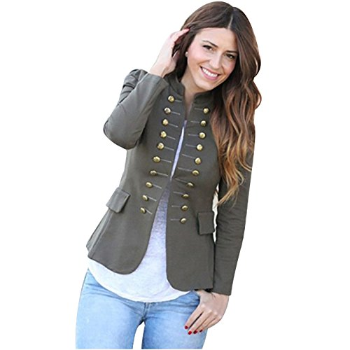 Double Breasted Crop Jacket - 2