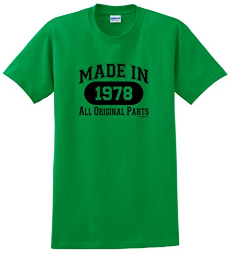40th Birthday Gifts For Dad Gift Made 1978 All Original Parts T Shirt Large Green Mom Says Its Cool