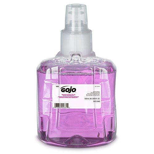 GOJO 1912-02 Antibacterial Foam Handwash, Plum Fragrance, 1200mL Refill, Purple (Pack of 2)