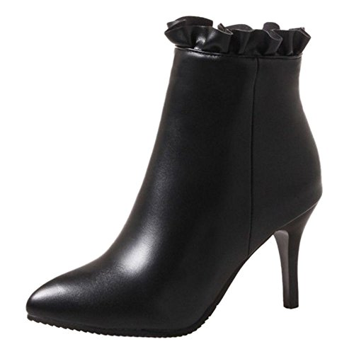 With And Heel colors Sjjh Boots Party Plus Ankle Thin 3 Women Pointed Toe Black wAfatqF