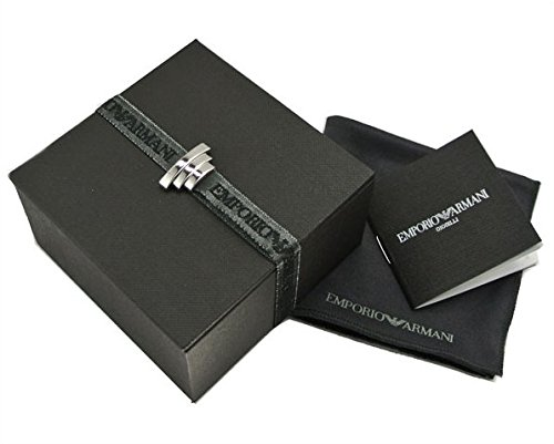 EMPORIO ARMANI EGS2130 BLACK ION-PLATED TWO TONE STEEL ARCHITECTURAL RING, Size 10, in Gift Box by Emporio Armani (Image #2)