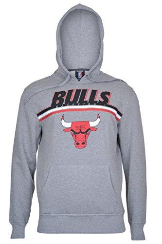 UNK NBA Men's Chicago Bulls Fleece Hoodie Pullover Sweatshirt Out of Bounds, Medium, Gray Chicago Bulls Mens Sweatshirts
