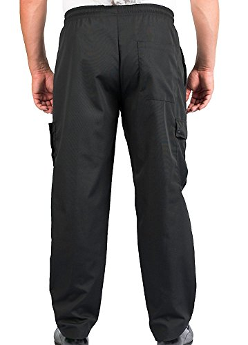 KNG Black Cargo Style Chef Pant, 4XL by KNG (Image #2)