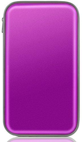 CD Case,Coofit 80 Capacity DVD Storage DVD Case VCD Wallets Storage Organizer Hard Plastic Protective DVD Storage Purple