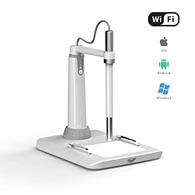 Wireless Microscope, ScopeAround WiFi Microscope Multi-function Magnifier Digital Otoscope with CMOS Sensor 150x Magnification for iPhone iPad Samsung LG SONY Mac and PC