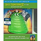 Hotel Transylvania 2 (3D Blu ray / Blu ray / DVD) + 3D Movie Gift Set With Collectible Squishy Blobby Toy