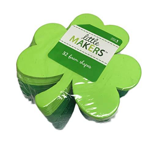 St. Patrick's Day 32 Piece Green Shamrock Foam -