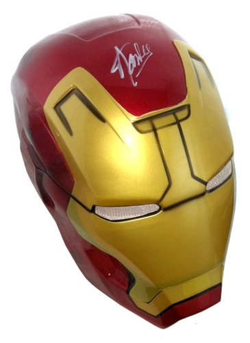 [Stan Lee Autographed/Signed Marvel Iron Man Plastic Costume Prop Mask] (Greatest Halloween Costumes Ever)