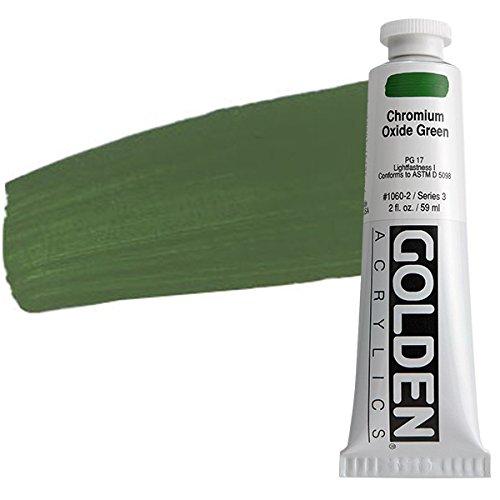 Golden Heavy Body Acrylic Paint, 2-Ounce, Chromium Oxide Green