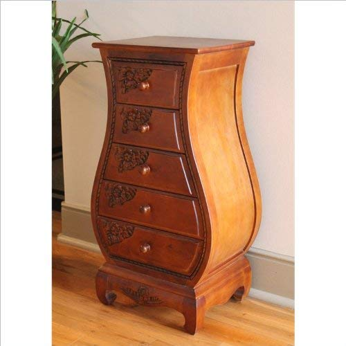 International Caravan 3865-IC Furniture Piece Five Drawer Bombay What Not Chest