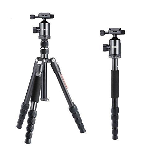 """58"""" Lightweight Camera Tripod, Beschoi Professional Aluminum"""