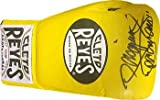 "Manny Pacquiao signed Yellow Right Cleto Reyes Pro Fight Boxing Glove 8 oz ""Pacman""- Hologram - PSA/DNA Certified"