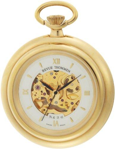 Pocket Gold 14k Watch - Revue Thommen Men's 12002-3112 Pocket Watch Hand-Winding Movement White Dial Watch