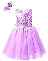 Girls Sequin Tutu Sleeveless Dress