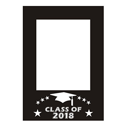 (BESTOYARD Class of 2018 DIY Picture Frame Cutouts Photo Props Graduation Photo Props Graduation Phtoto Booth Props 2018 Graduation Party)