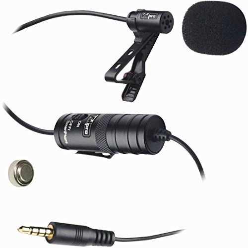 Vidpro XM-L Lavalier Condenser Microphone for DSLRs, Camcorders & Video Cameras 20' Audio Cable