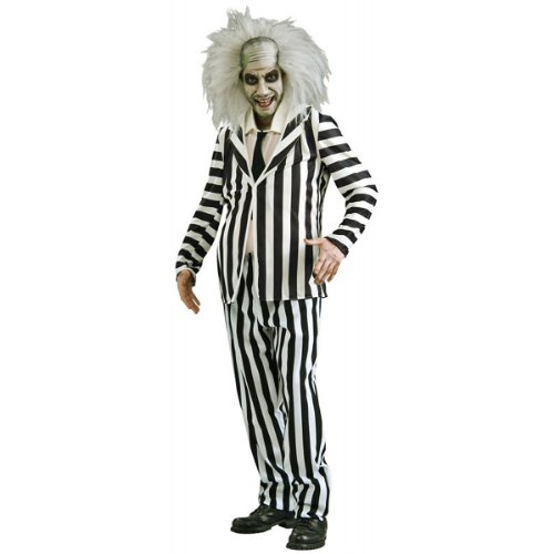 Beetlejuice Costume, Black/White, Standard