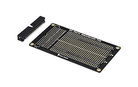 Half Size - RPi Proto Breadboard PCB Kit for Raspberry Pi 3 / Zero 1.3 / 2 / B+ / A+ (with 40p Box Header) - 2 Header