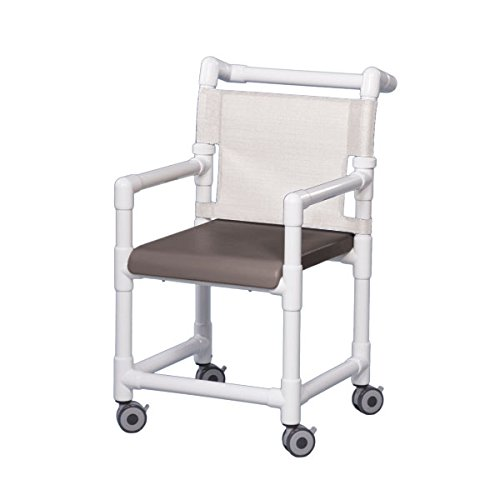 Dlx Shower Chair W/Solid Gray Seat White