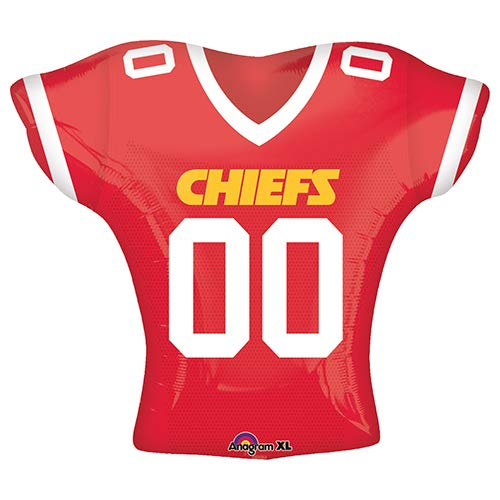 Big City Balloons (Anagram 26187 NFL Kansas City Chiefs Football Jersey Foil Balloon, 24
