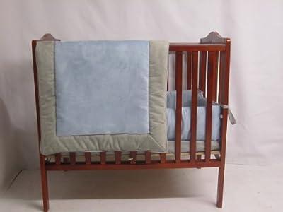 Baby Doll Bedding Zuma Port-A-Crib Bedding Set, Grey/Blue by Baby Doll Bedding