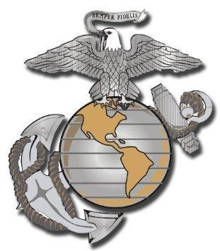 [해외]3.8 \\ / 3.8 US Marine Corps Eagle Globe and Anchor Decal Sticker