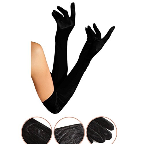 Velvet Opera Gloves (Raylans Women's Velvet Gloves Opera Length Sexy Formal Costume Lingerie Black)