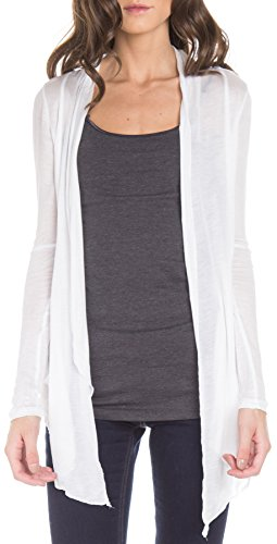 ragstock-womens-lightweight-long-sleeve-open-pocket-cardigan-white-large